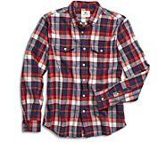 Camden Fresh Plaid Button Down Shirt, Red, dynamic