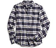 Lenox Plaid Button Down Shirt, Black, dynamic
