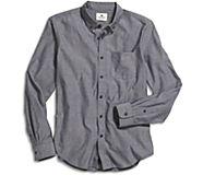 Long Sleeve Button Down Shirt, Navy, dynamic