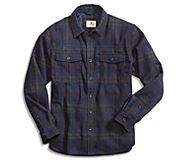 Wool CPO Shirt Jacket, Grey/Navy Plaid, dynamic