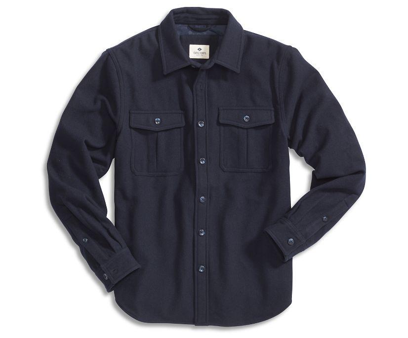 Wool CPO Shirt Jacket, Navy, dynamic