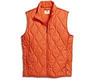 Quilted Vest, Orange, dynamic