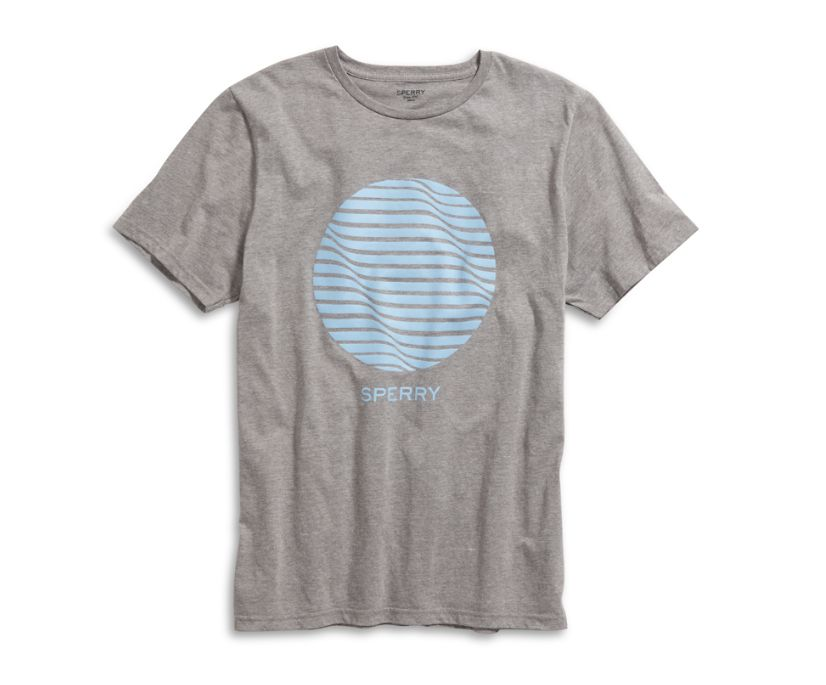Circle Wave T-Shirt, Heather Grey, dynamic