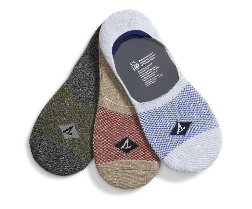 Sneaker 3-Pack Liner Sock, Grey Assorted, dynamic