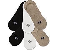Sneaker Liner 6-Pack Sock, Hemp Heather, dynamic