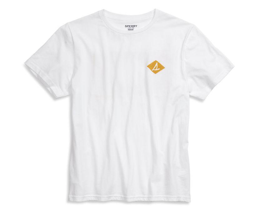 Diamond Flag Ringer T-Shirt, White, dynamic