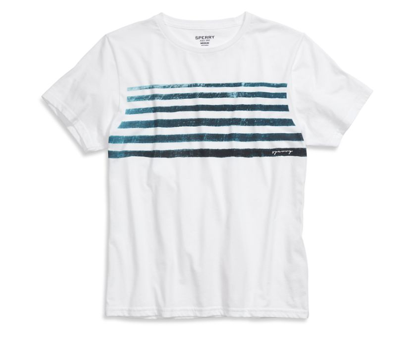 Indigo Stripe T-Shirt, White/Blue, dynamic
