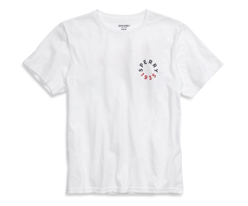 Sperry Badge T-Shirt, White, dynamic