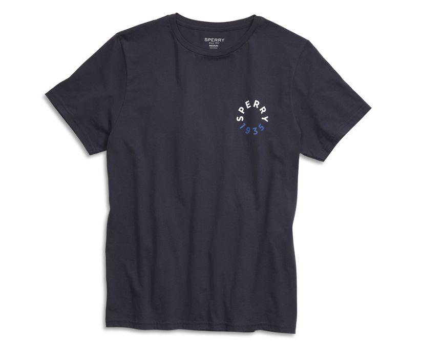 Sperry Badge T-Shirt, Navy, dynamic