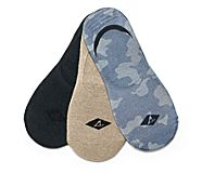 Performance Cushioned 3-Pack Liner Sock, Camo Assorted, dynamic