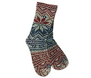 Printed Wool Cushion Crew Sock, Red, dynamic
