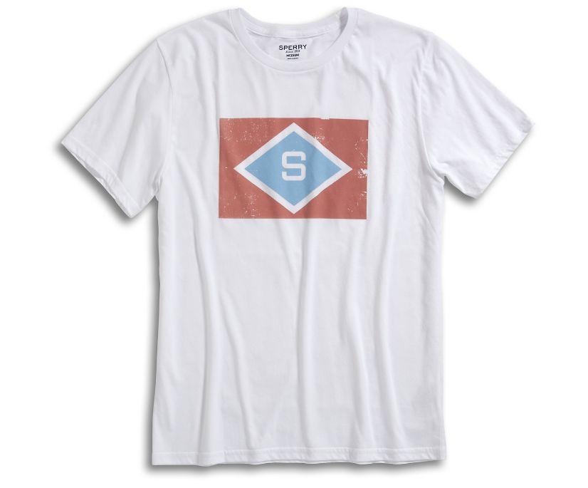 Sunbleached Flag T-Shirt, White, dynamic