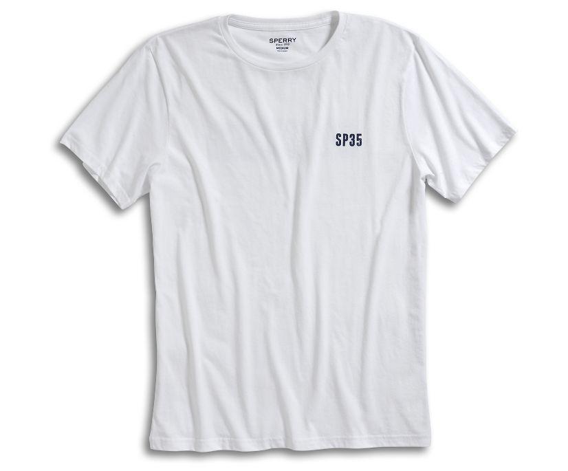 Hey Captain T-Shirt, White/Navy, dynamic