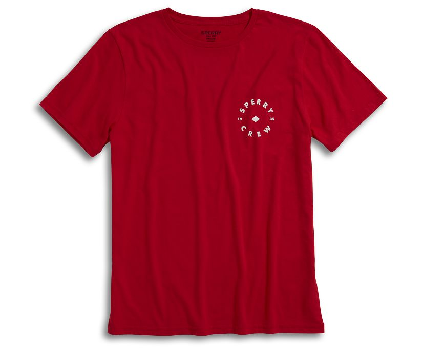 Sperry Crew T-Shirt, Red, dynamic