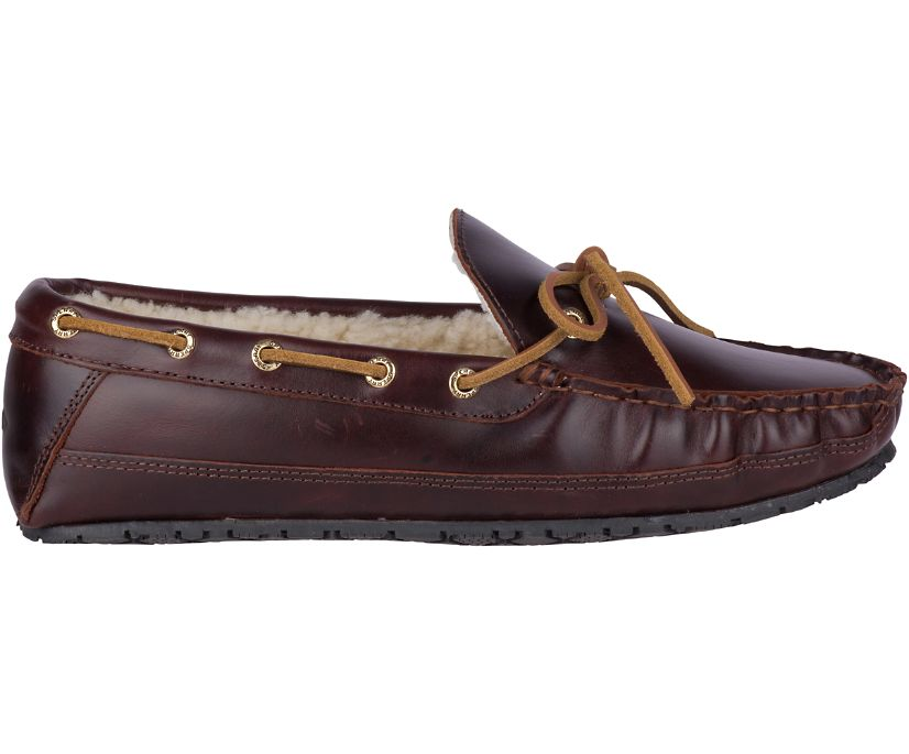 Gold Cup Leather Slipper, Brown, dynamic
