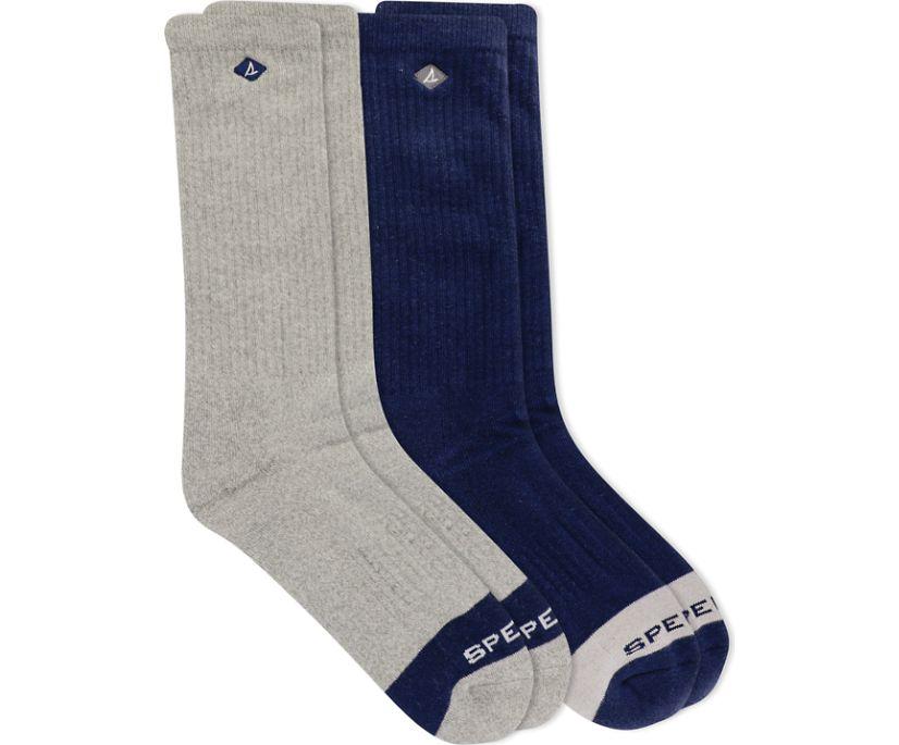 Crew 2-Pack Sock, Grey Marled Assorted, dynamic
