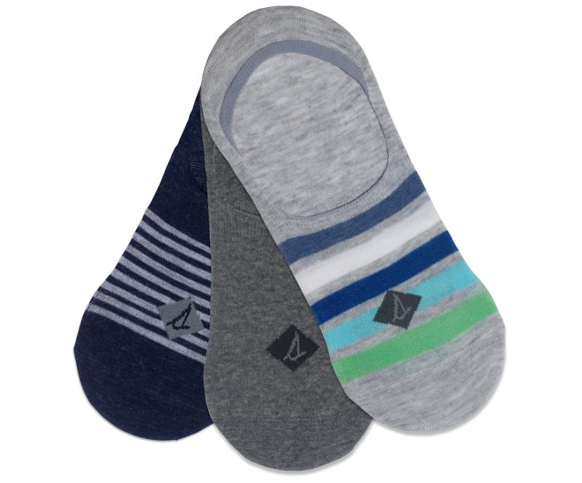 Sneaker 3-Pack Liner Sock, Grey Assorted, dynamic