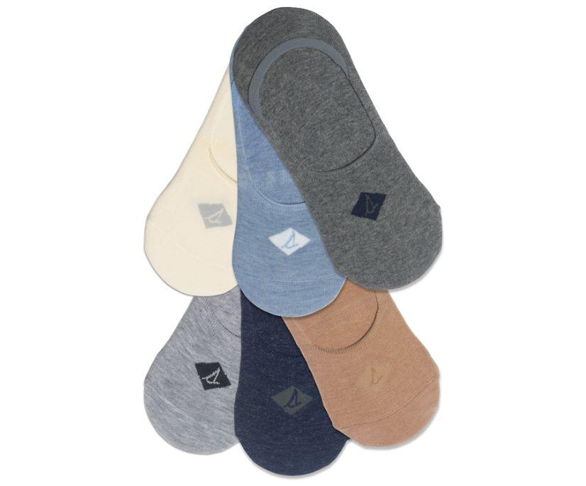 Sneaker 6-Pack Liner Sock, Charcoal, dynamic