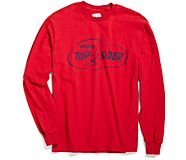 Made in the USA Cloud Signal Flag Long Sleeve T-Shirt, Red, dynamic