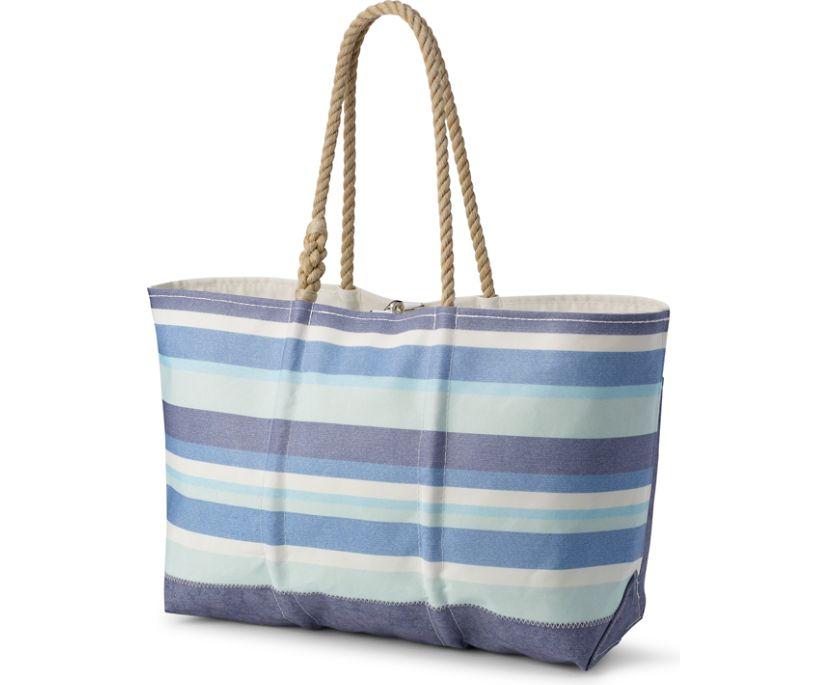 Sea Bags Beach Tote, Blue Multi Stripe, dynamic