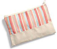 Sea Bags Pouch, Coral Multi Stripe, dynamic