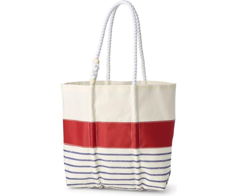 Sea Bags Medium Tote, Red Mariner Stripe, dynamic