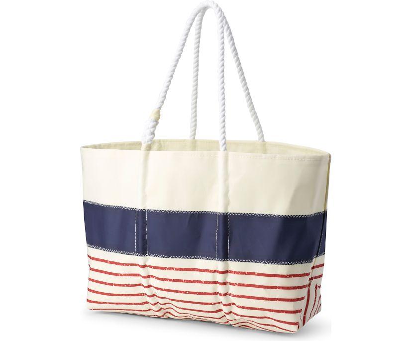 Sea Bags Large Tote, Navy Mariner Stripe, dynamic