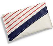 Sea Bags Clutch, Navy Mariner Stripe, dynamic