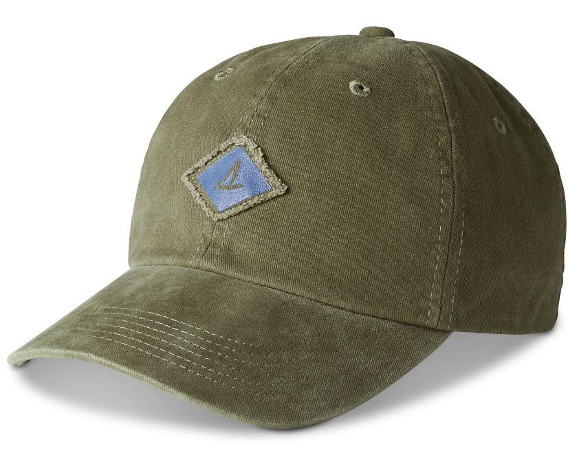 Burgee Saltwash Canvas Hat, Olive, dynamic