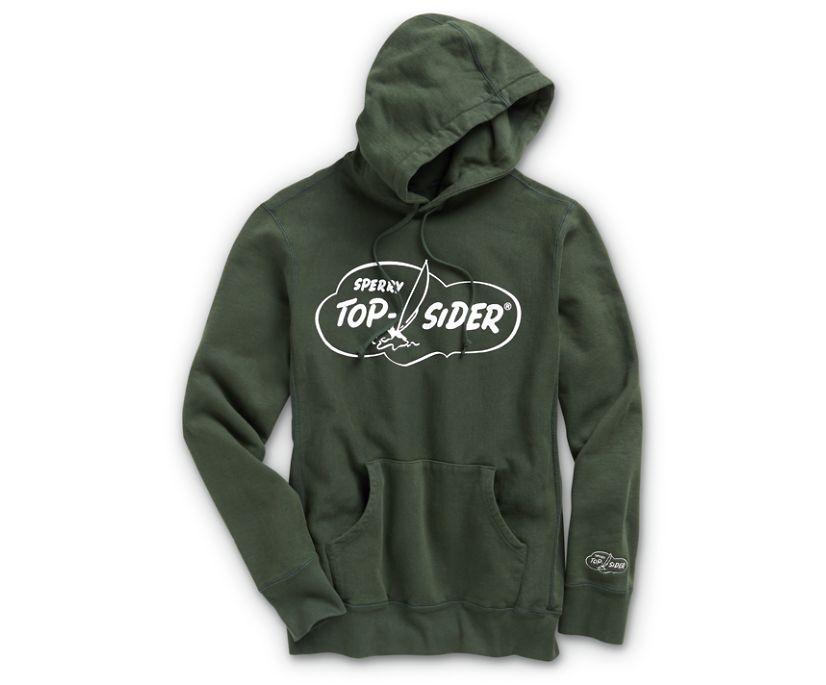 Made in USA Cloud Cotton Hoodie, Dark Green, dynamic