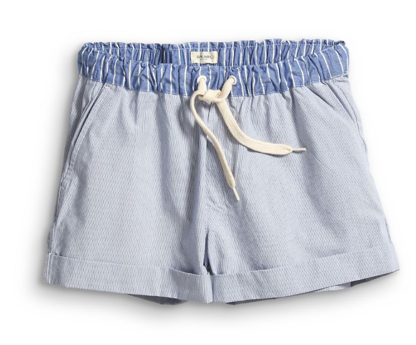 Woven Dock Short, Blue/White, dynamic