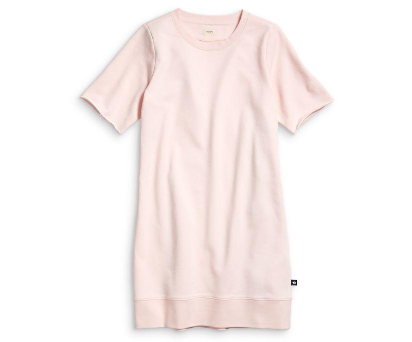 Balloon Sleeve Dress, Bleached Pink, dynamic
