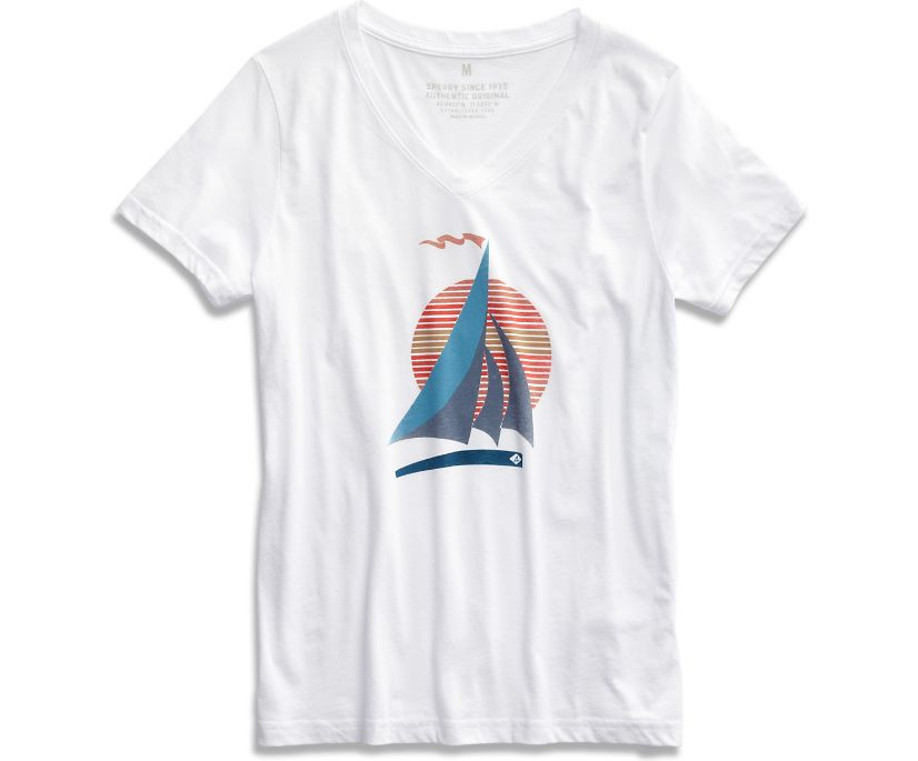 Sail T-Shirt, White/Dark Blue, dynamic