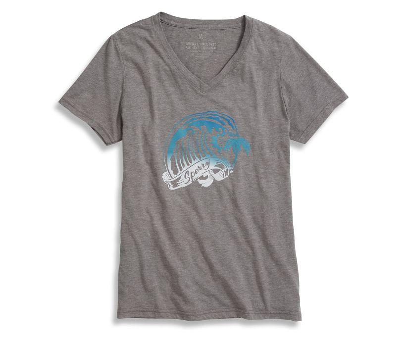Wave T-Shirt, Heather Grey, dynamic