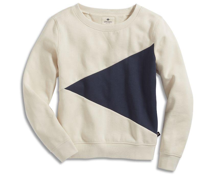 Burgee Sweatshirt, Ivory/Navy, dynamic