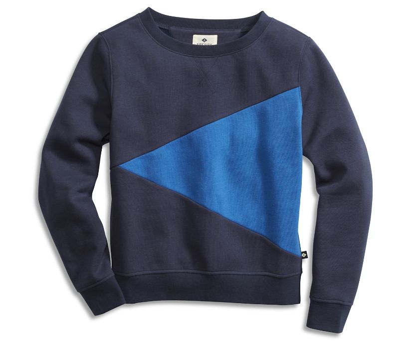 Burgee Sweatshirt, Navy/Marine Blue, dynamic