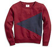Burgee Sweatshirt, Tibetian Red/Navy, dynamic