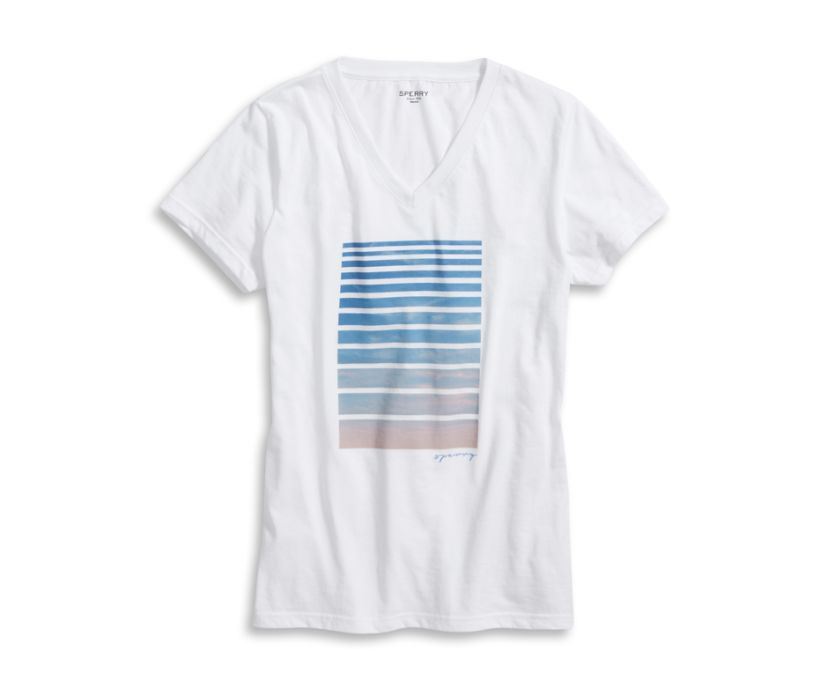 Sunset Blinds T-Shirt, White, dynamic