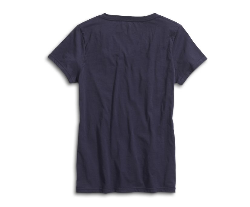 Sunset Blinds T-Shirt, Navy, dynamic