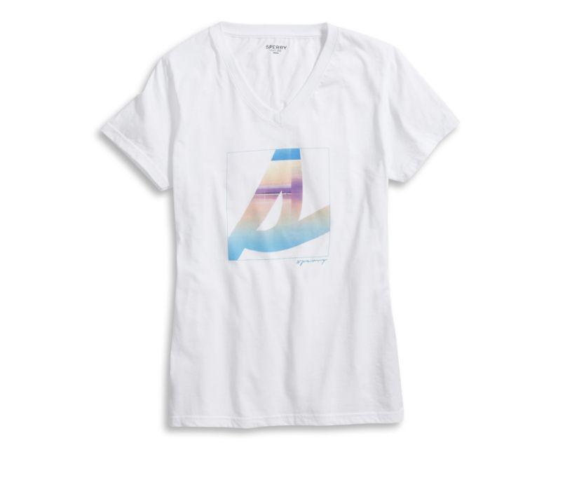 Ombre Burgee T-Shirt, White, dynamic