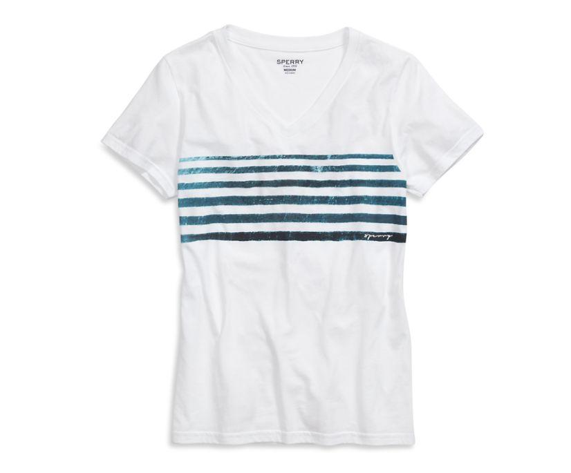 Indigo Stripe T-Shirt, White/Blue, dynamic