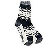 Cabin Cozy Crew Sock, Black, dynamic