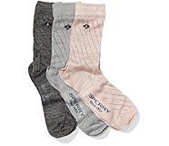 Gift Box Crew Sock, Pink Marl Assorted, dynamic