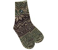 Printed Wool Cushion Crew Sock, Fig, dynamic