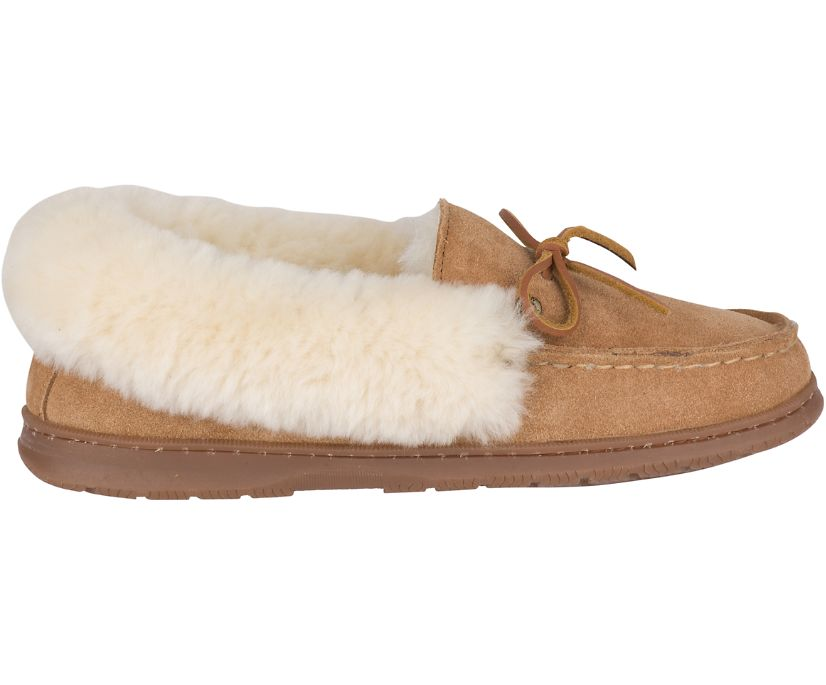 Shearling Cup Sole Slipper, Cinnamon, dynamic