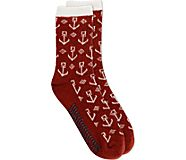 Anchor Cabin Cozy Sock, Red, dynamic