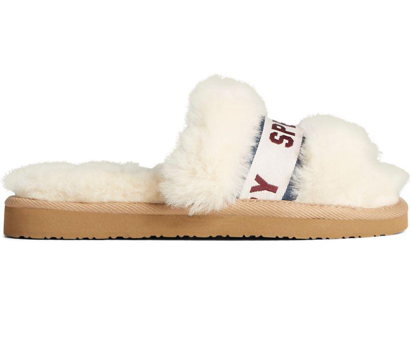 Romy Shearling Slide Slipper, Natural Shearling, dynamic