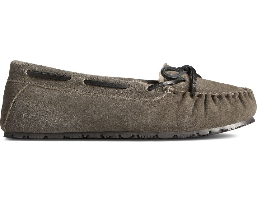 Reina Junior Trapper Slipper, Grey, dynamic