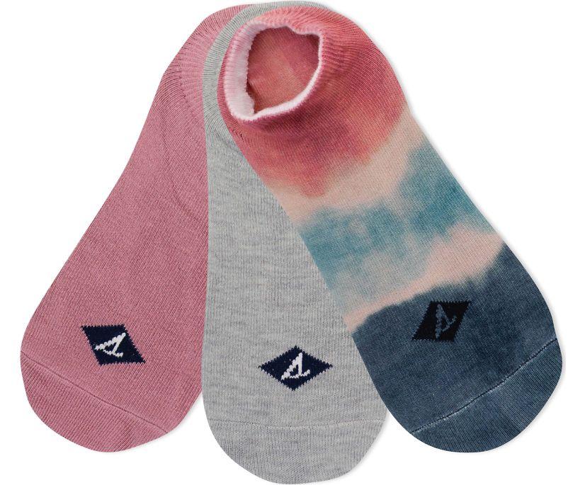 Tie Dye Printed Ultra Low Show 3-Pack Liner, Rose, dynamic