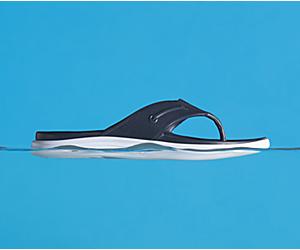 Windward Float Flip Flop, Navy, dynamic